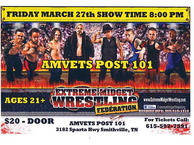 Extreme Midget Wrestling coming to Amvets