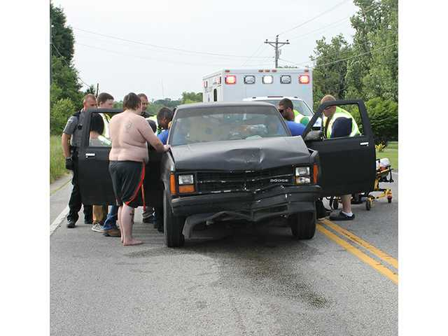 Three airlifted after crash