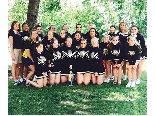 Cheerleaders attend camp