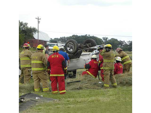 Luna airlifted after rollover
