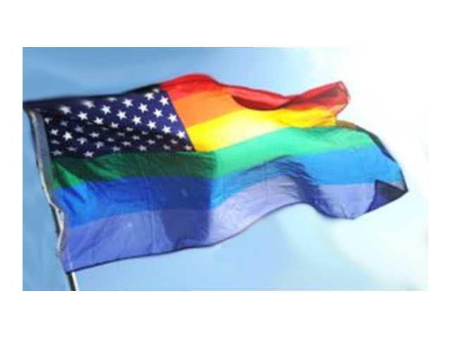 "Woman cited for taking ""gay flag"""