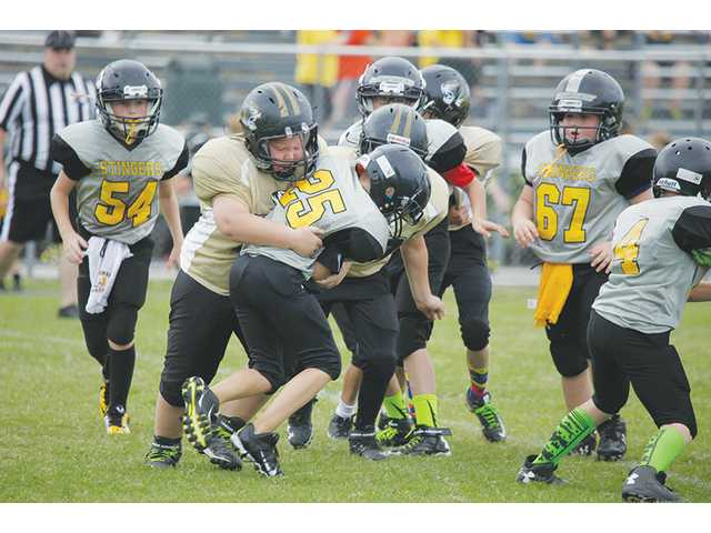 Pee Wee Tigers miss at Baxter