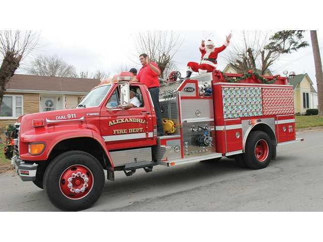 Christmas parades, Santa on the way