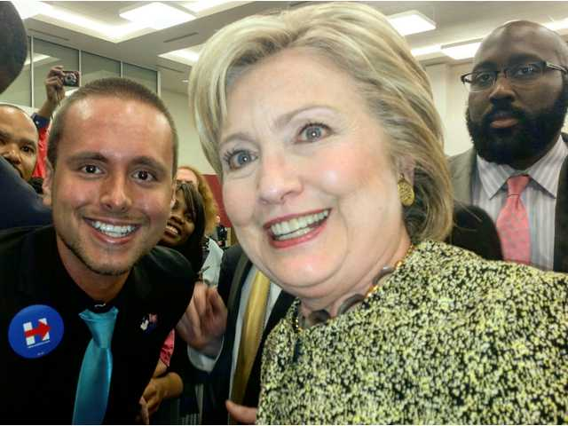 A selfie with Hillary