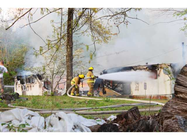 Fire claims home