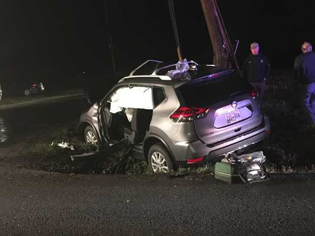 Three involved in Monday night crash