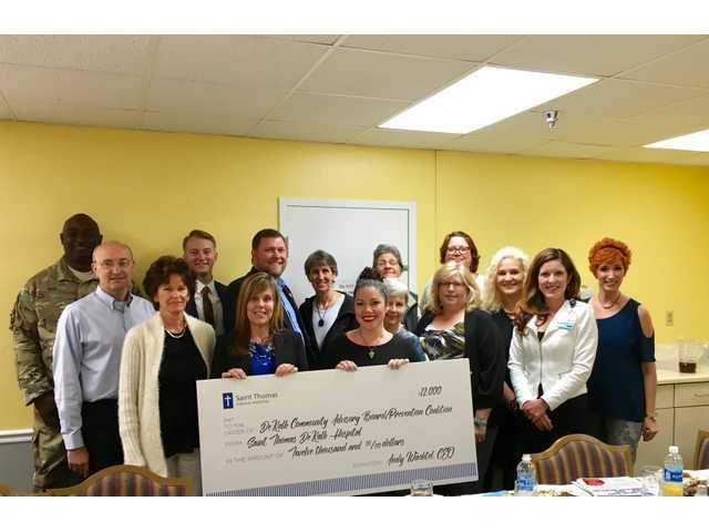St. Thomas DeKalb Hospital donates $12K to DeKalb Prevention Coalition