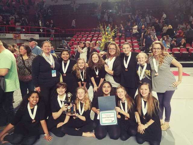 DCHS Winterguard State Champs