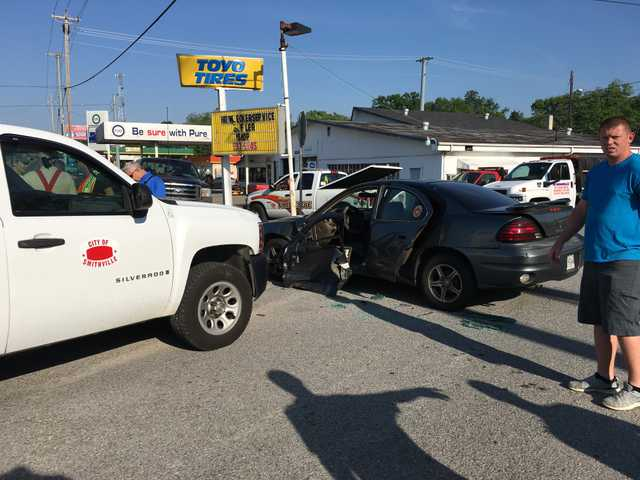 Two injured in crash