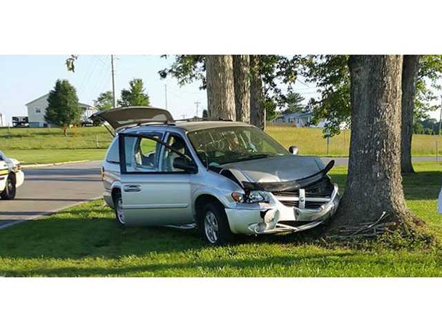 Two suffer minor injuries from Friday wreck