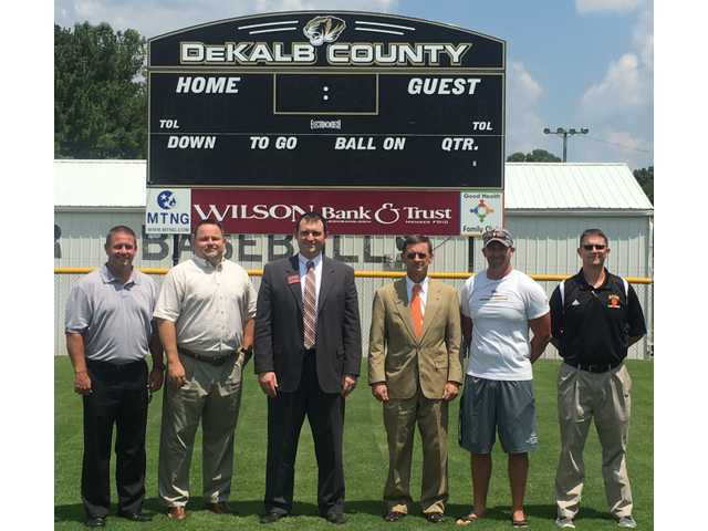 Tigers get new football scoreboard