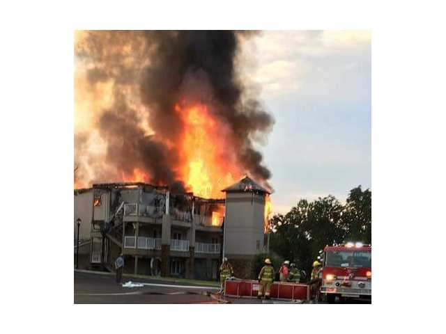 Fire destroys condo