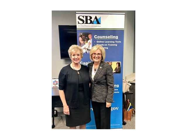 Congressman Diane Black greets President Trump's Small Business Administrator Linda McMahon