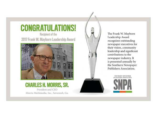 Charles H. Morris Sr. honored with Mayborn Leadership Award
