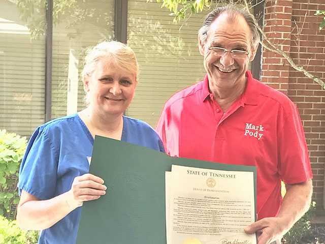 Opal Parker celebrates 20 Years as CNA at NHC