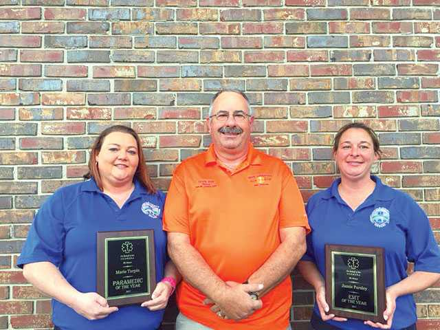 EMS pair honored for life-saving effort