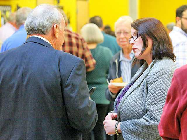 Democratic Party holds potluck dinner