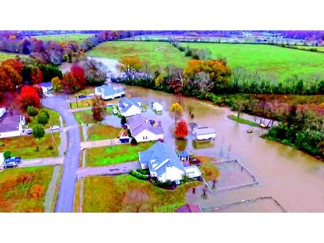 Historic flooding recorded