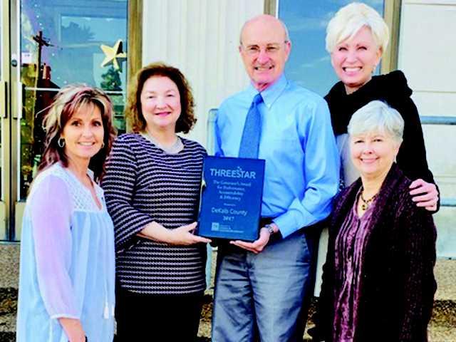 DeKalb County honored with ThreeStar award