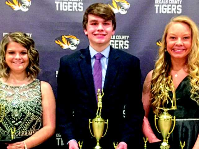 Evins, Evans, Colwell take top honors at banquet