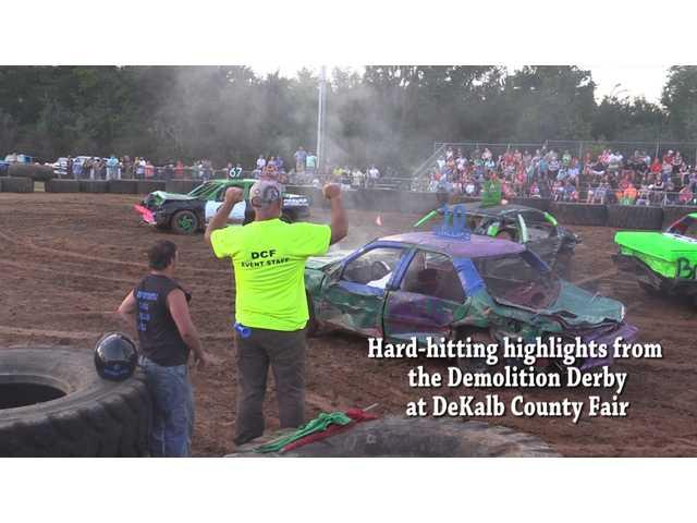 Video highlights of fair demolition derby