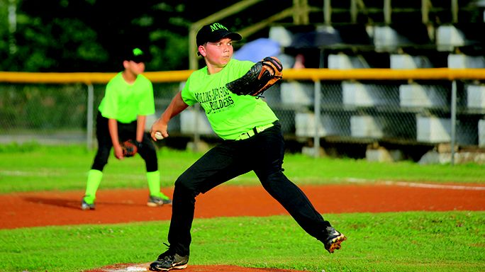 Mullins and Lawsons' Jon Hendrix took the mound for their teams during the three-game championship series.