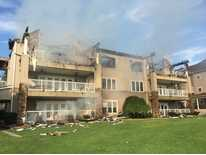 Condo fire at Cove Hollow