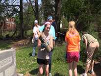 VIDEO - Girl Scout Troop cleans cemetery