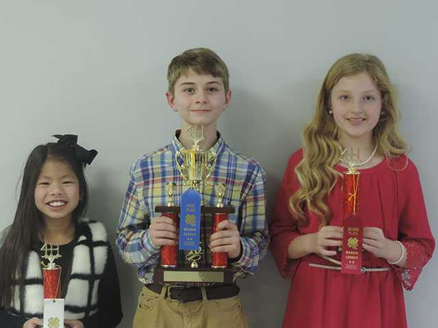 Students shine in 4-H Public Speaking contest