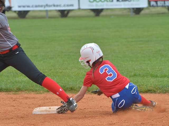 WCMS softball soars past Eaglettes