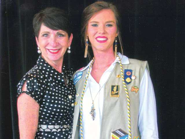 England earns Girl Scout's highest honor