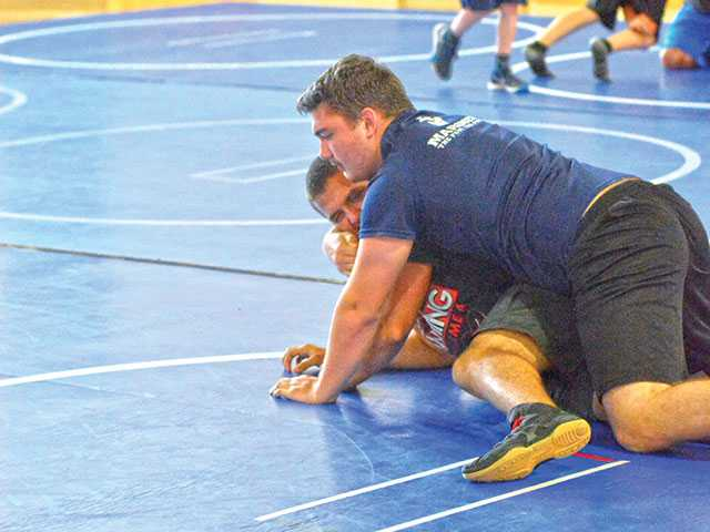 WCHS wrestling camp welcomes young grapplers