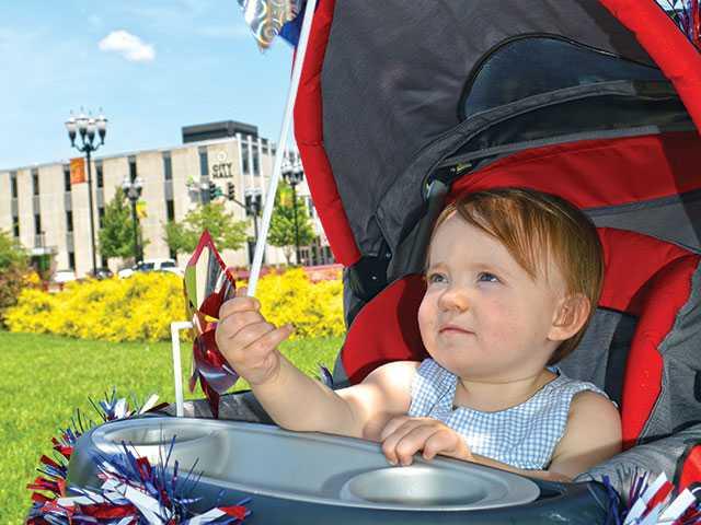 Patriotic parade preparations