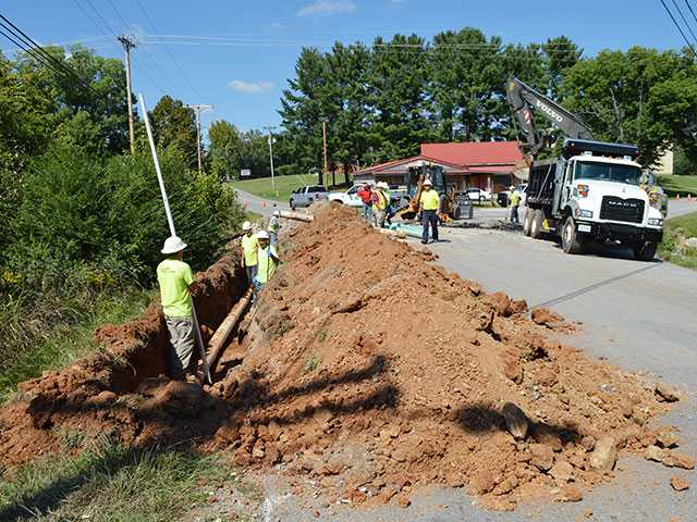 Road work forces detour this week