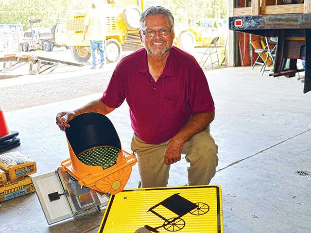 Stolen horse and buggy road sign found in woods
