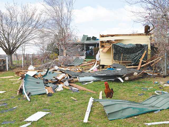 Roof ripped off home in Dibrell