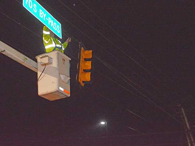 Traffic lights knocked out by storm