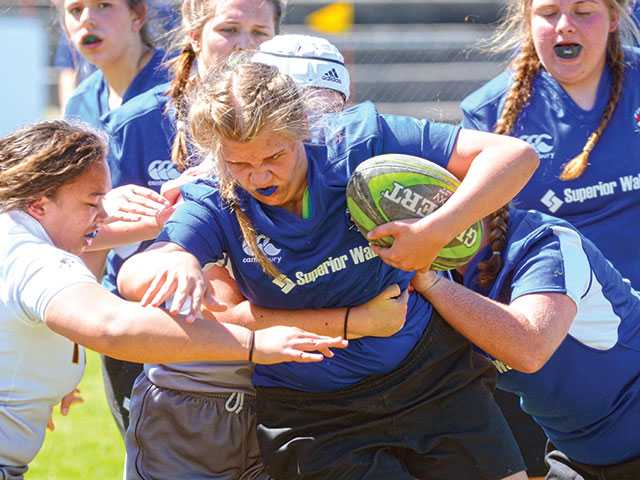 Rugby teams roughed up