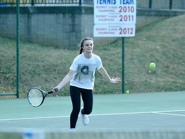 Lady Pioneer tennis team enjoying successful season