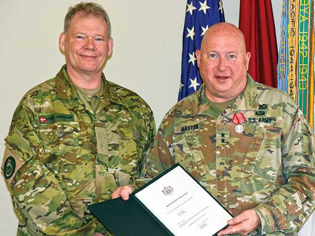 Major Gen. Haston receives honor