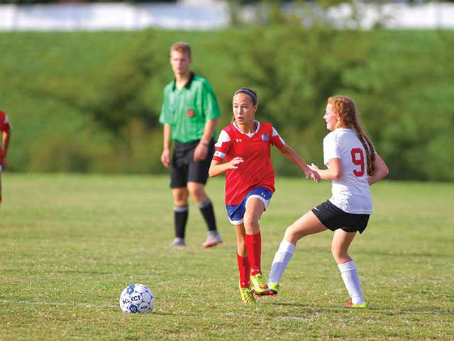 Lady Pioneers overwhelm Coffee County Middle School