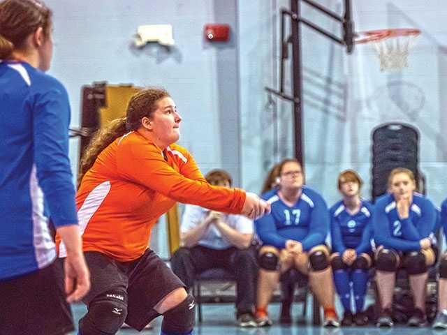 Covenant Academy volleyball team celebrates successful senior night