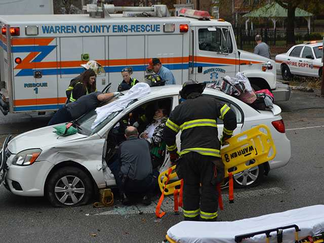 Two hospitalized after intersection collision