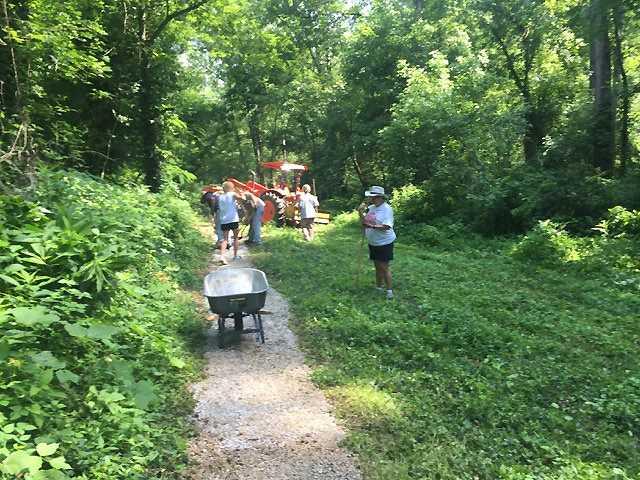 Bigbee Trail on right path