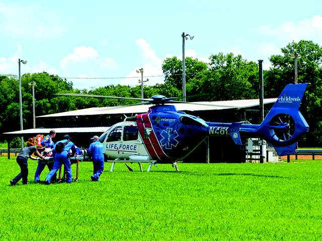 Two airlifted