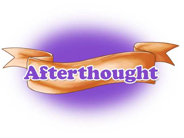 Afterthoughts - OK with pageant change