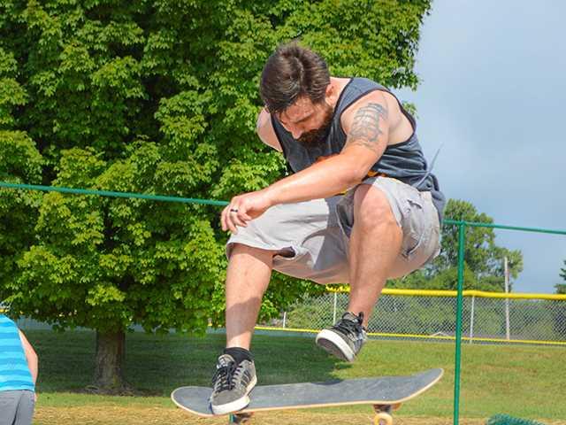 Skate park flying high