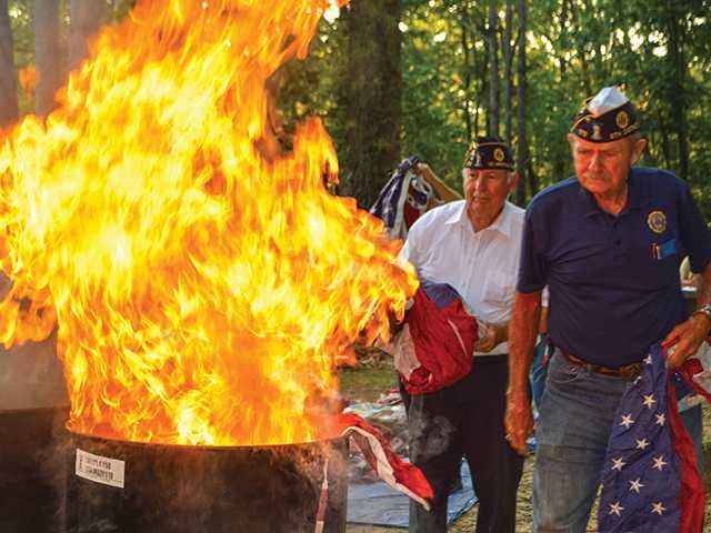 American Legion holds Flag Retirement Ceremony
