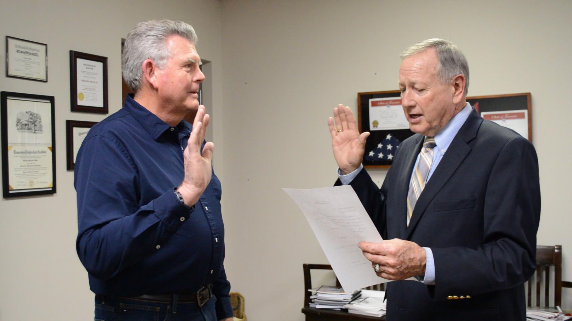 VIDEO - Stout sworn as commissioner