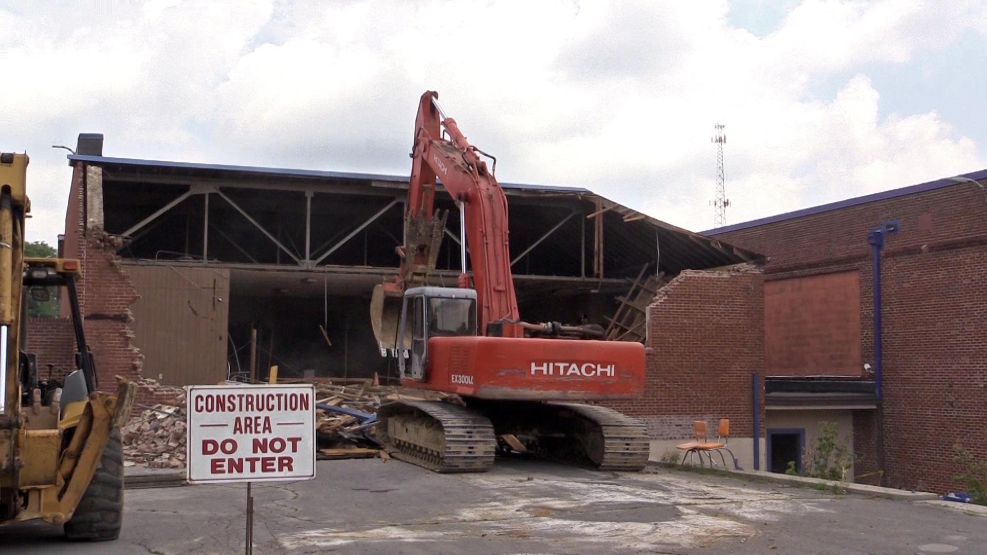Demolition underway at Bobby Ray